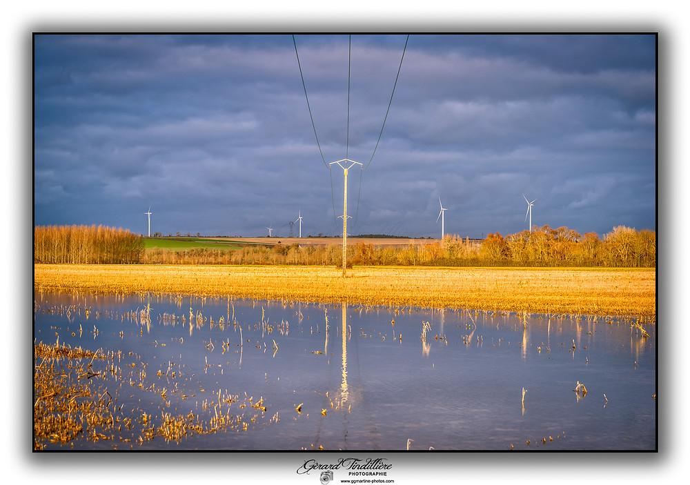 Petite sortie photos en cet après-midi du 4 janvier 2020 à Saint Martin aux Champs (Marne). Arrêt entre la Guenelle et la Marne pour capter ces couleurs de fin d'après-midi entre soleil couchant et arrivée de nuages menaçants.