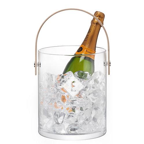 Personalised Handblown and Handmade LSA Monogramed Ash handle Ice Bucket