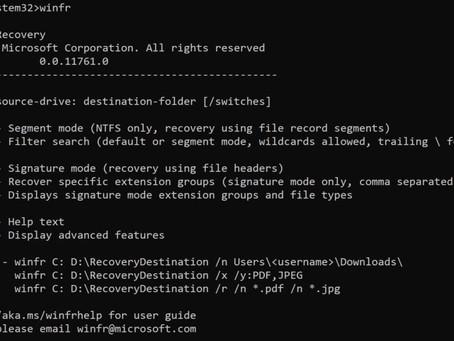 récupérer des fichiers supprimés sous Windows 10