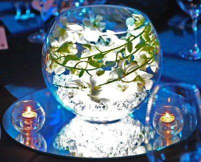 Illuminated Fishbowl Image taken from Sweet Jasmine Weddings Website