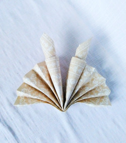 Candle Fan Napkin Fold