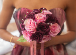 Posy Bouquet Purple and Pink