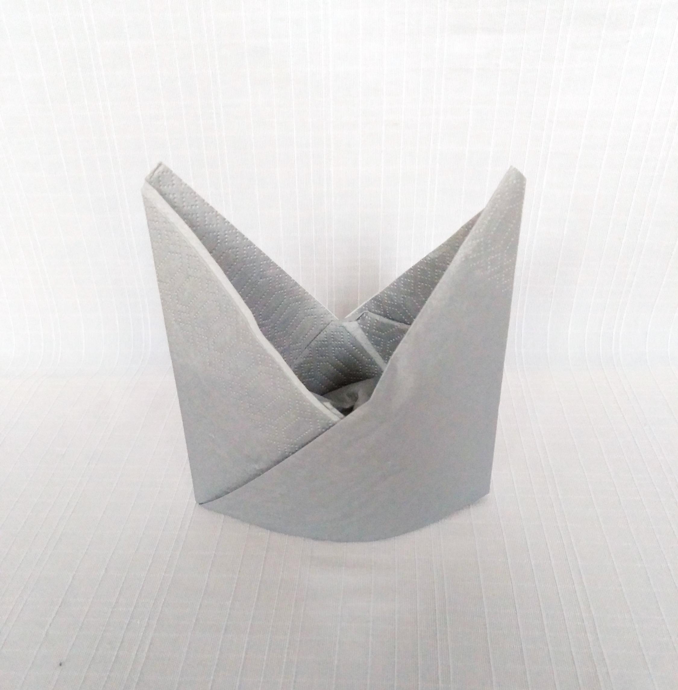 Bishop's Mitre Napkin Fold
