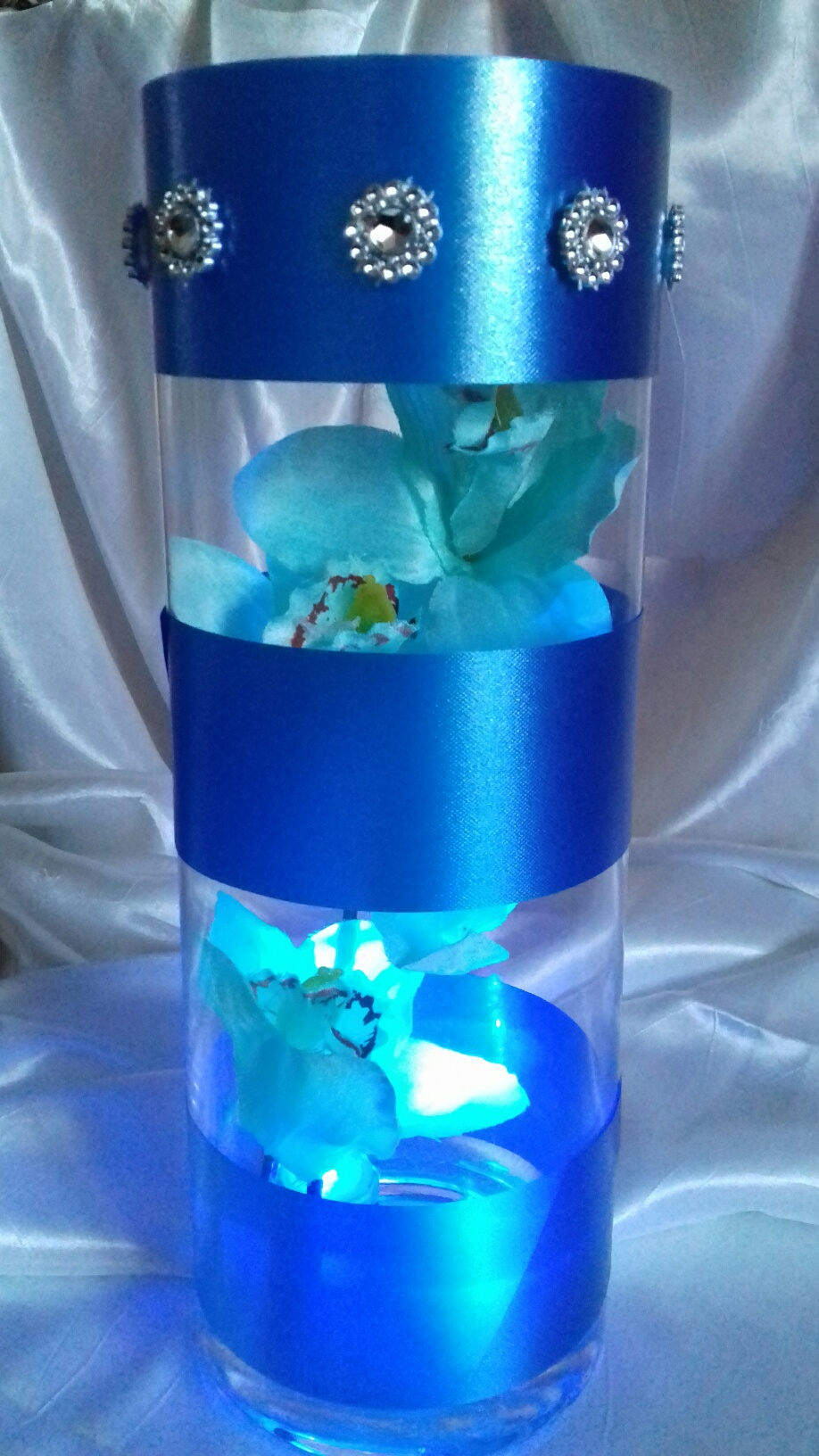 Blue Orchid in Cylinder Vase