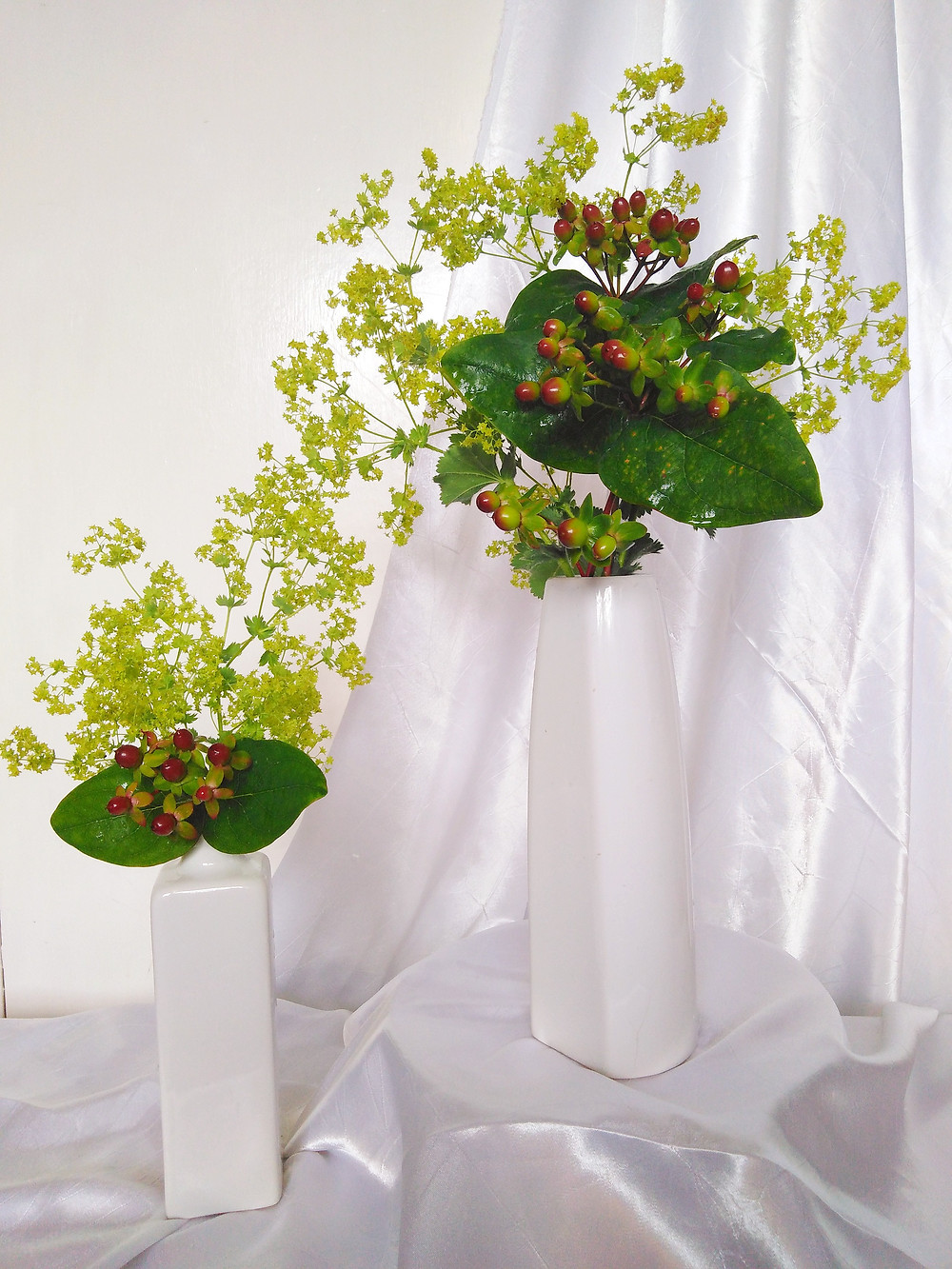 Lady's Mantle/Alchemilla and Hypericum Berries by PC Creations Leeds