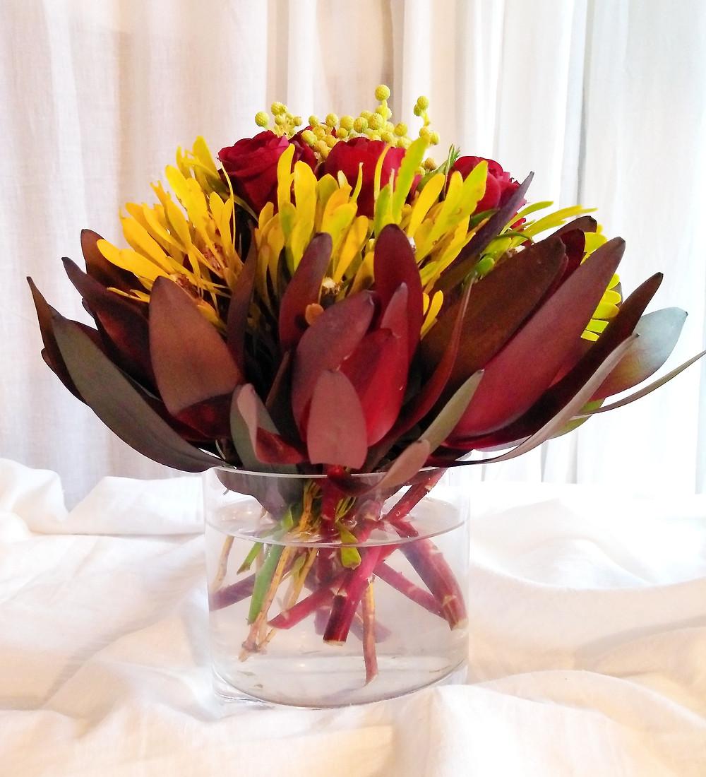 Vibrant Coloured Floral Centrepiece