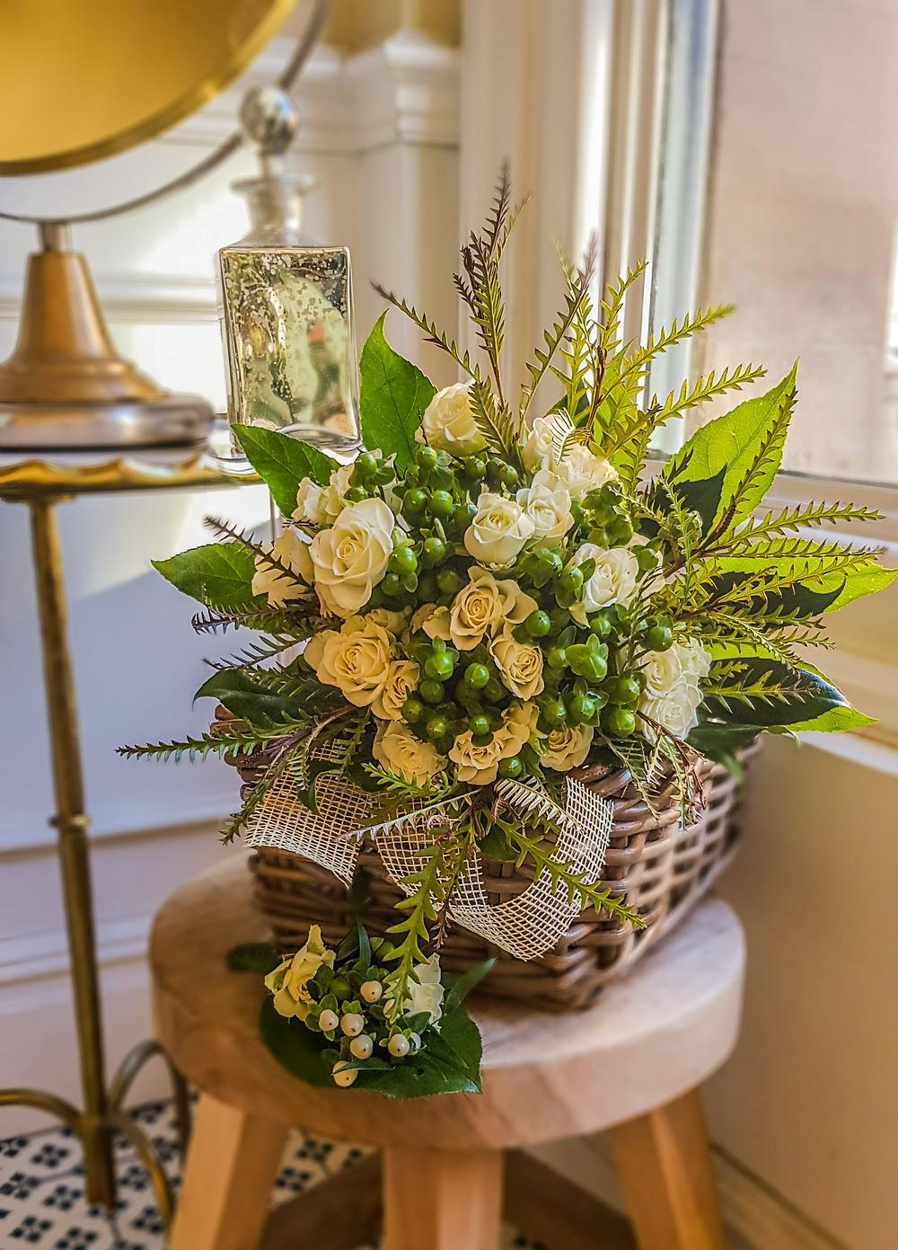 PC Creations Leeds Brides Bouquet containing 'Grevillea Ivanhoe' leaves