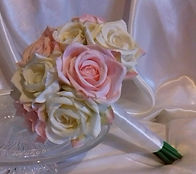 Pink and Ivory Rose Posy Bouquet