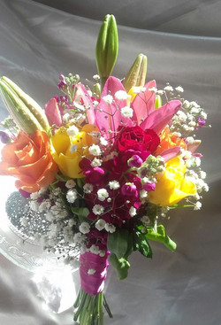 Brides bouquet Summer Colours
