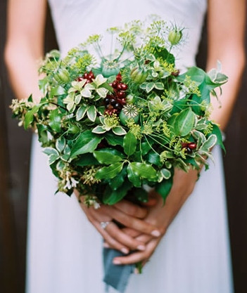 Foliage and Berry Bouquet
