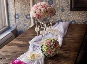 Brides Bouquet - pink and pastel green