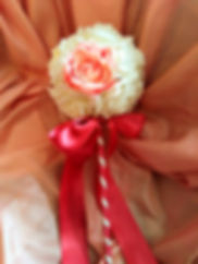 Flower and brooch Wedding Wand