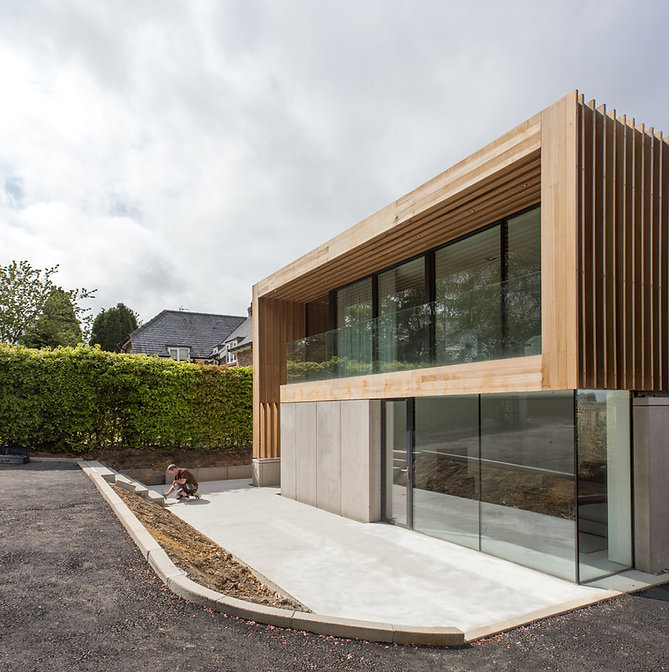 timber wood russwood thermal house concrete glass glazing darras hall ponteland sutherland hussey harris