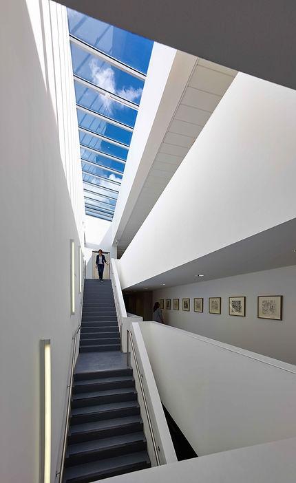 atrium lobby circulation space esw edinburgh sculpture workshop art roof light balcony void double height
