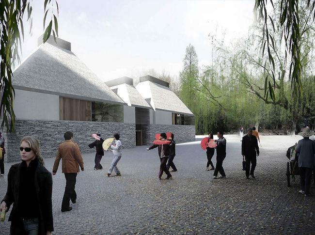 gallery roof garden china chinese shanghai zhangdaqian chang da chien