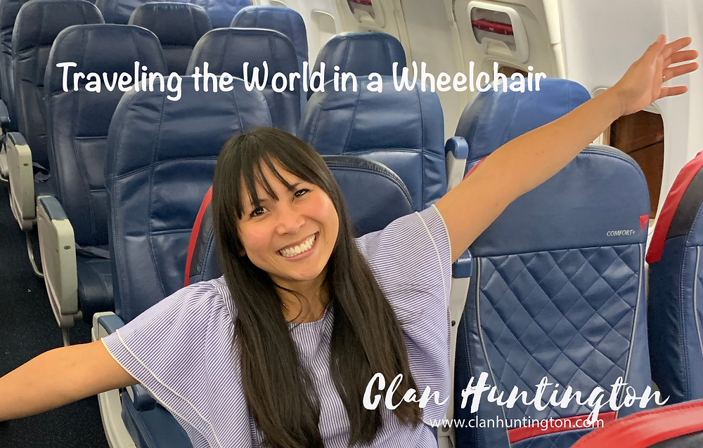 disabled woman on a plane