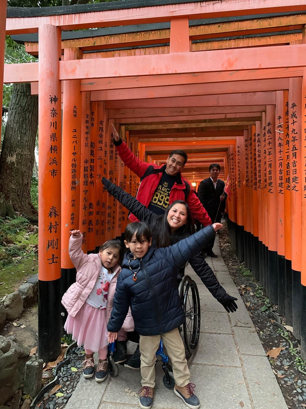 Red Tori gates at Fushimi Inari in Japan