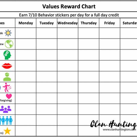 Children's Values Reward Chart