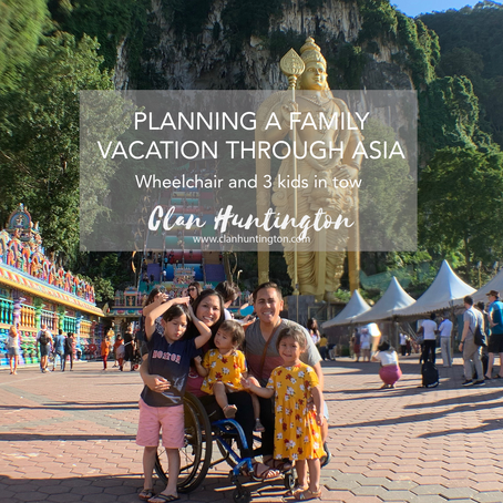Planning a family vacation through Asia - Wheelchair and 3 kids in tow