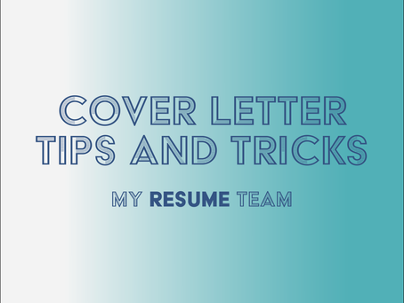 Cover Letter Tips and Tricks