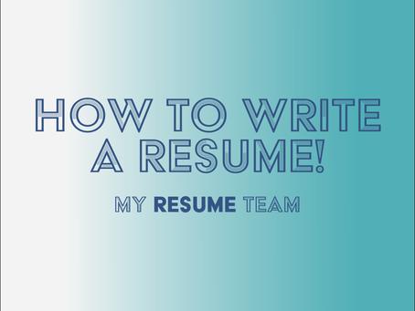 How do I write a Resume?