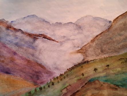 Nuages dans la vallée. Christine