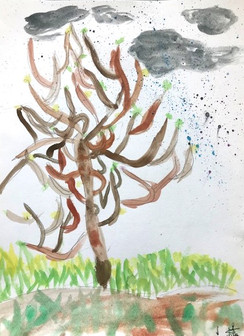 Les branches dansantes. De Maïna