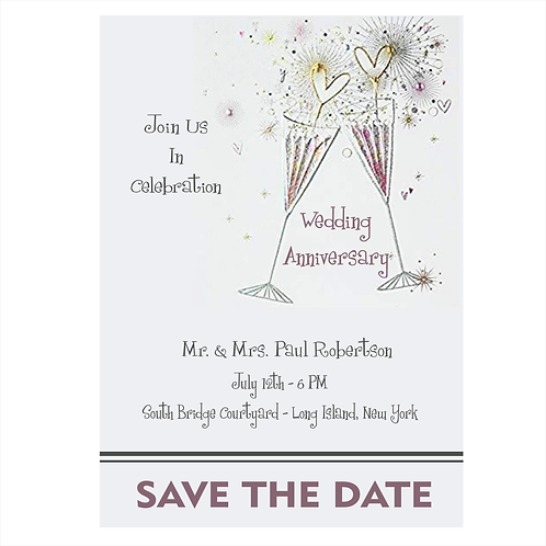 A Toast To Anniversary Save the Date Magnet
