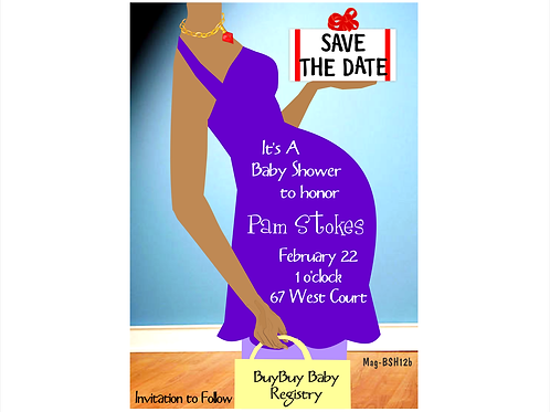 Big Belly Baby Shower Save the Date Magnets