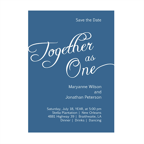 Together As One Wedding Save the Date Magnets