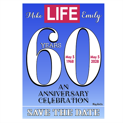 This Thing Called LIFE Anniversary Save the Date Magnet