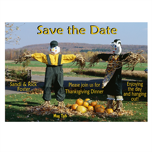 Hanging Out On Thanksgiving Save The Date Magnets
