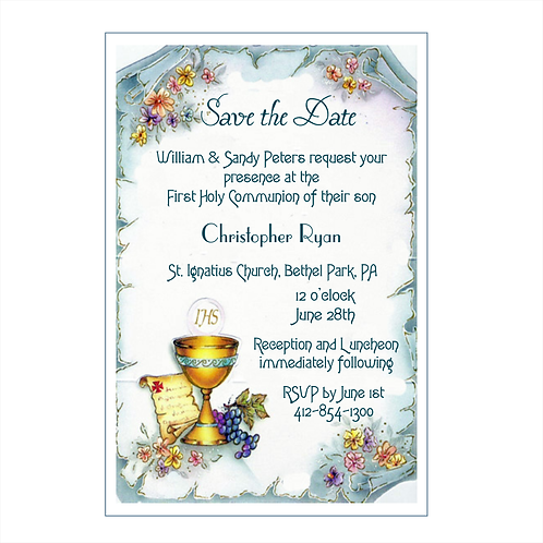 In His Grace Communion Save The Date Magnet