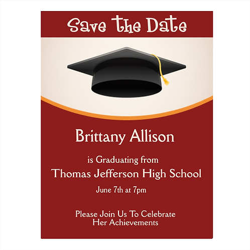 High School Graduation Save the Date Magnet