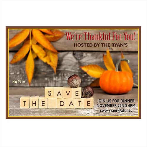 Thanksgiving Blocks Save The Date Magnet