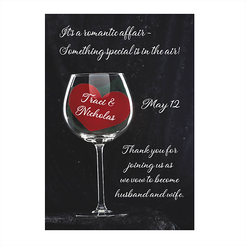 Your Hearts on Crystal Wedding Wine Bottle Label