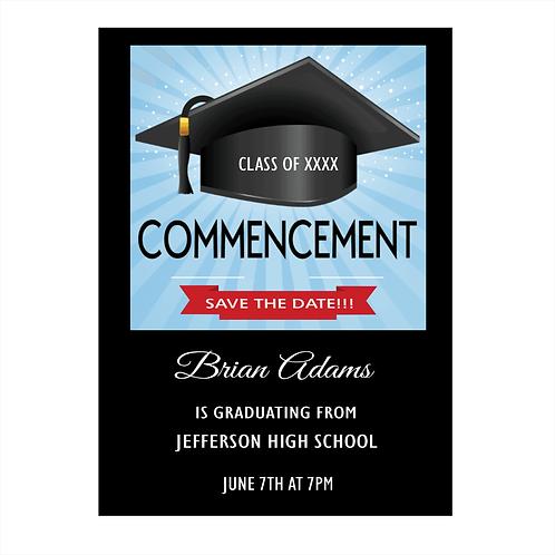 Commencement Graduation Save the Date Magnet