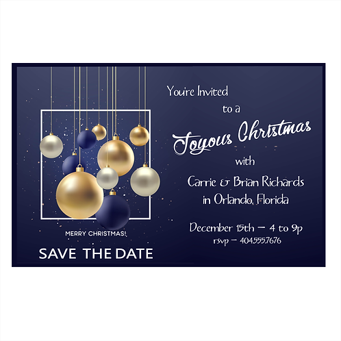 A Joyous Christmas Save the Date Magnet