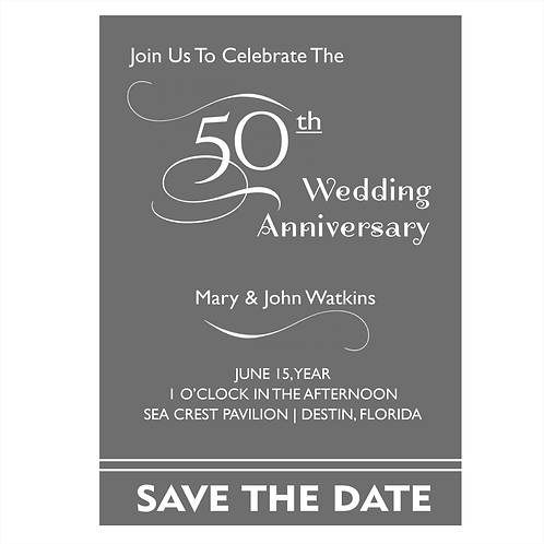 Bold 50th Anniversary Save the Date Magnet