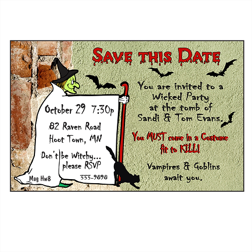 Calling all Witches Halloween Save The Date Magnet