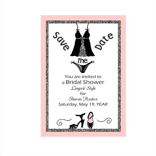 Lingerie Bridal Shower Save The Date Magnet