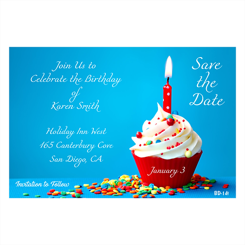 A Candle for a Birthday Save The Date Magnets
