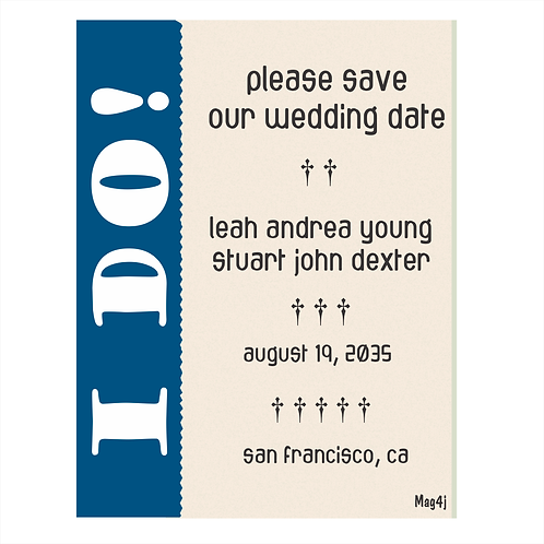 I DO Wedding Save the Date Magnets
