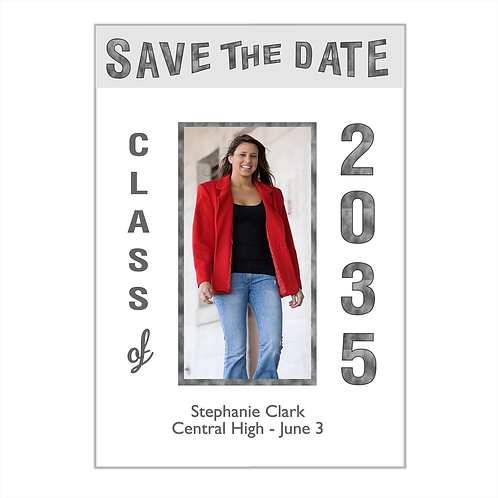 All Grown Up Graduation Photo Save The Date Magnet