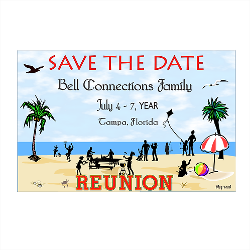 Reunion at the Beach Save The Date Magnets