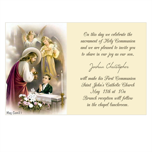 Body of Our Lord Boy Communion Save The Date Magnets
