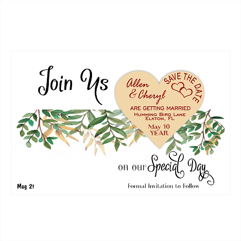 Join Us Wedding Save the Date Magnets