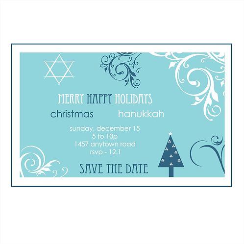 Merry Happy Holidays Save the Date Magnet