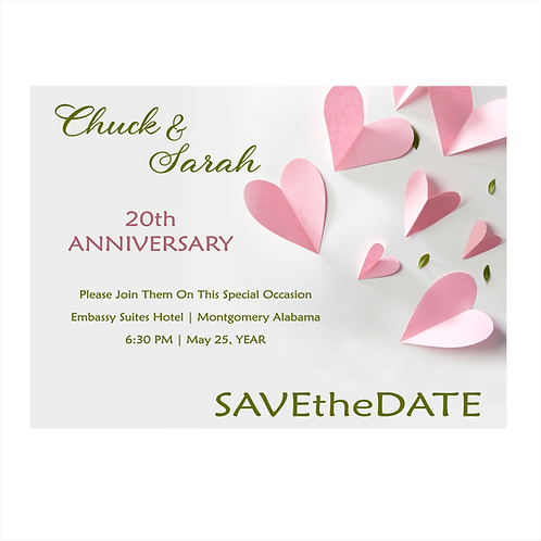 My Heart Displayed Anniversary Save the Date Magnet
