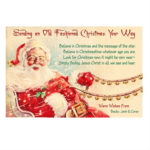An Old Fashioned Christmas Card Magnet